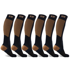COPPER FLUX™ COMPRESSION SOCKS (6-PAIRS)