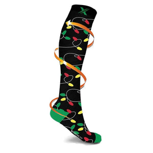 TANGLED LIGHTS COMPRESSION SOCKS
