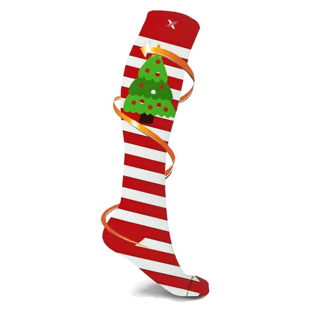 PEPPERMINT TREE COMPRESSION SOCKS