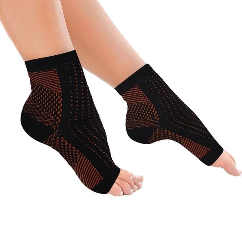 Copper-Infused Plantar Fasciitis Compression Foot Sleeves (1-Pair)