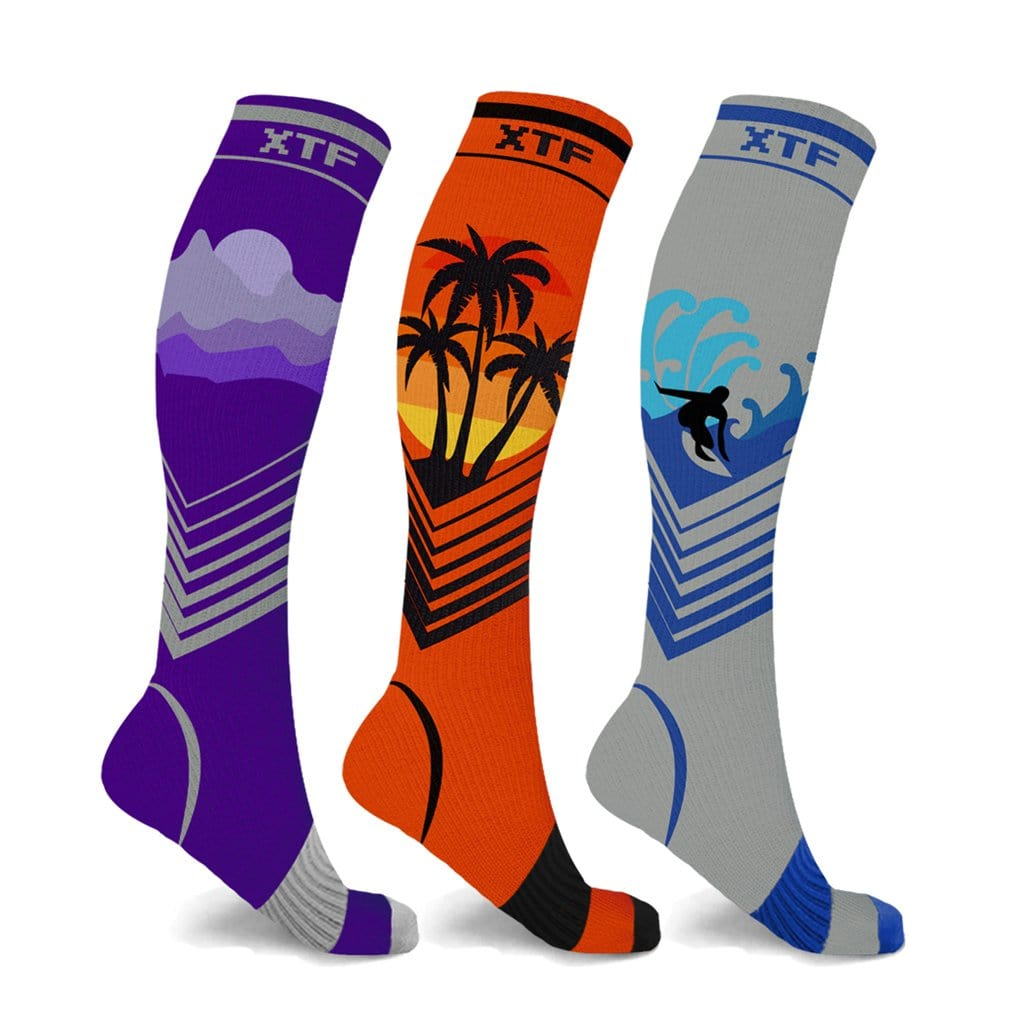 CALIFORNIA DREAMING COLLECTION COMPRESSION SOCKS (3-PAIRS)