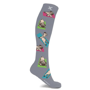 YOGA PUG COMPRESSION SOCKS