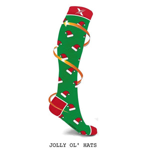 SANTA IS COMING COMPRESSION SOCKS (3-PAIRS)