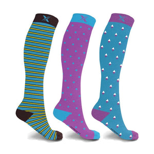 MIDNIGHT COMPRESSION SOCKS (3-PAIRS)