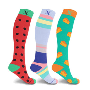 PICNIC IN CENTRAL PARK COMPRESSION SOCKS (3-PAIRS)