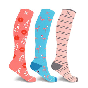 BOSSBABE VIBES COMPRESSION SOCKS (3-PAIRS)