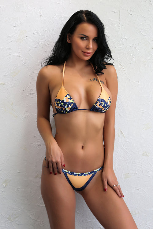 Camila Orange and Blue Swim - darcyroseuk