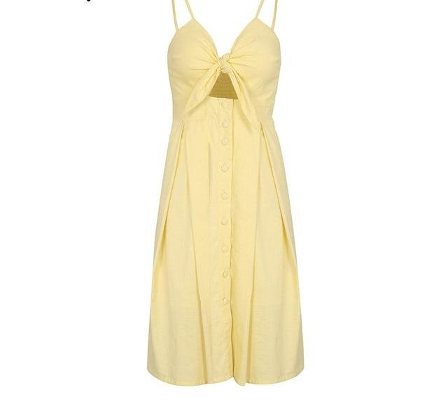 Isabel Bow Summer Dress - darcyroseuk