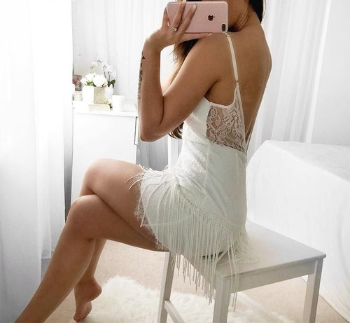 Megan Backless Tassel Dress - darcyroseuk