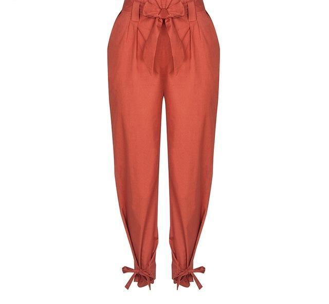 Elsie Bow Ruffle Trousers - darcyroseuk