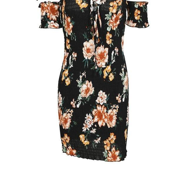 Pia Floral Off the Shoulder Dress - darcyroseuk