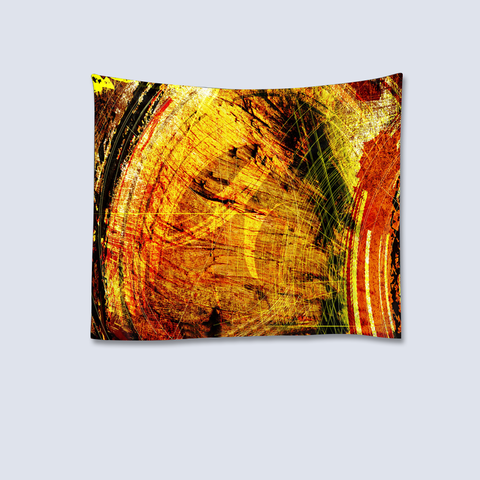 Abstract Art Tapestry - Orange