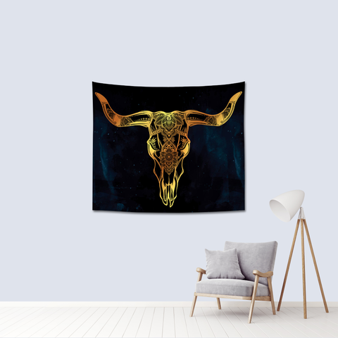 Antler tapestry leaving room