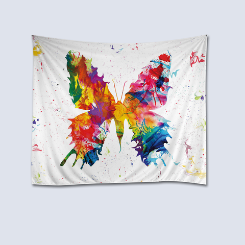 Butterfly Painting Fabric Wall Tapestry