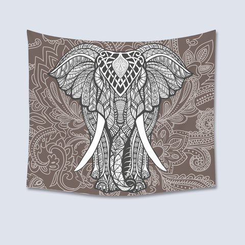 Elephant Tapestry - Gray