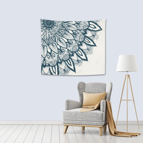 Mandala Tapestry in living room