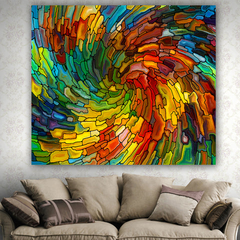 Colorful Glass Finish Tapestry