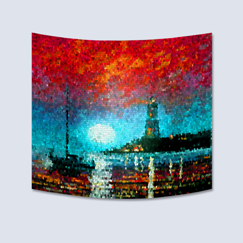 Lighthouse Painting Tapestry