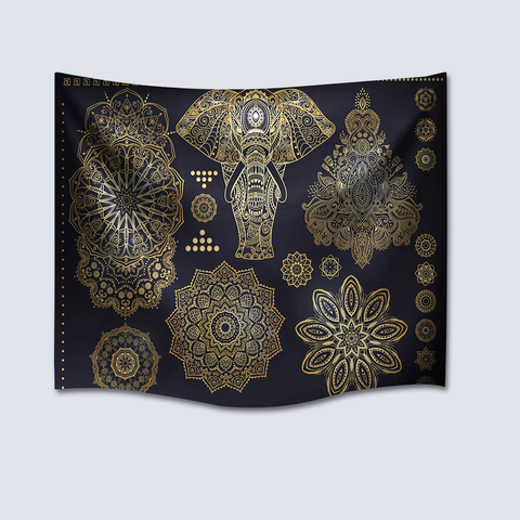 Mandala Tapestry With Elephant