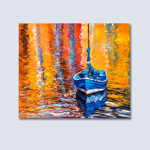 Oil Painting Tapestry - Boat