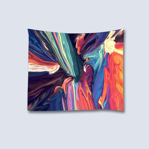 Psychedelic Art Tapestry - Blue