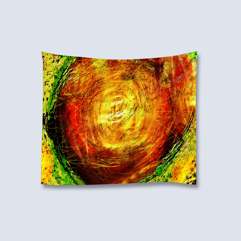 Psychedelic Art Tapestry - Orange