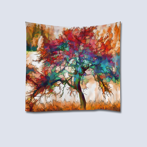 Tree Painting Tapestry