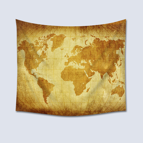 World Maps Retro Wall Tapestry
