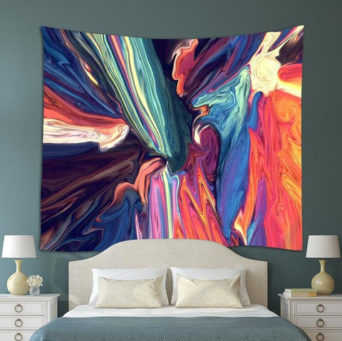 Psychedelic Art Tapestry - Bed room