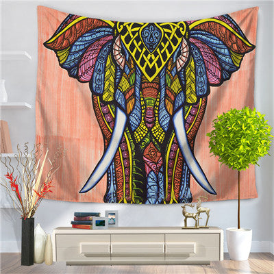 Elephant Wall Tapestry - Orange
