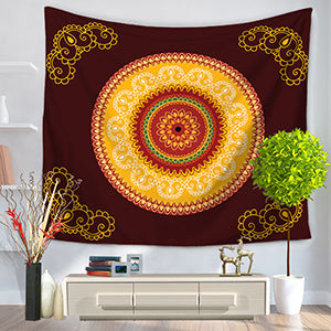 Mandala Tapestry Orange
