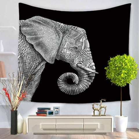 Great Elephant Tapestry