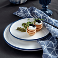Dessertteller Scandi-Blue