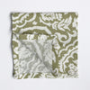 Green Block Print Napkins, Set of 4 - Karavanhk