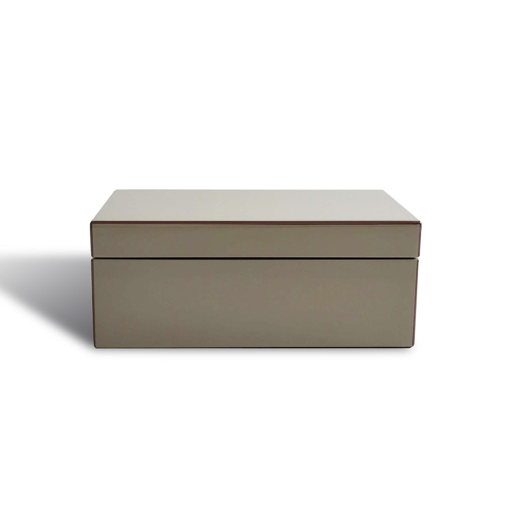 Dove Brown Lacquer Jewellery Box - Karavanhk