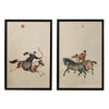 Chinese Hunting Pictures, Set of 2 - Karavanhk