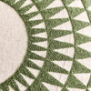 Green Round Cushion-closeup - Karavanhk