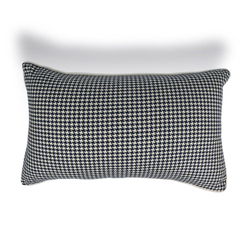 Navy Houndstooth Cushion - Karavanhk