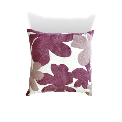 Abstract Pink Floral Cushion - Karavanhk