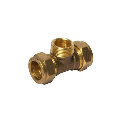 Cobra Tee Brass Copper to Copper to Male Connections