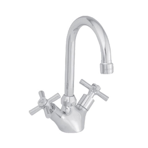 Cobra Ledimo Basin Mixer with Swan Neck Swivel Outlet