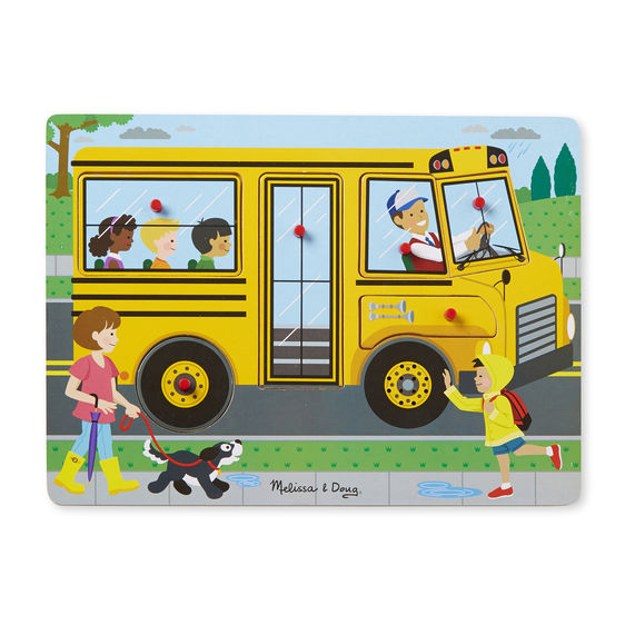 The Wheels on the Bus Sound Puzzle - toybox.ae