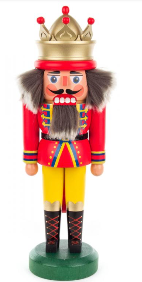 Nutcracker King with crown 30cm - toybox.ae