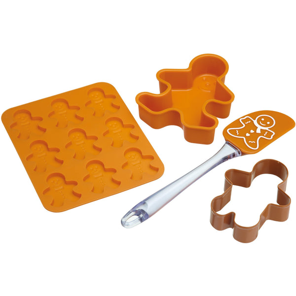 LET´S MAKE CHILDREN´S FOUR PIECE GINGERBREAD BAKING SET - toybox.ae