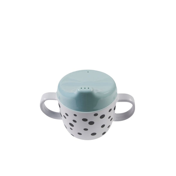 Done By Deer 2-Handle Spout Cup, Happy Dots, Blue - toybox.ae