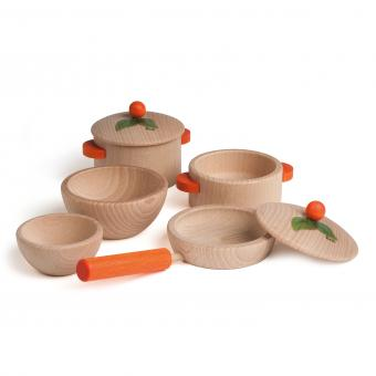 Erzi Cooking Set Nature Small - toybox.ae