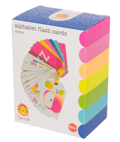 Alphabet Flash Cards - Neon - toybox.ae