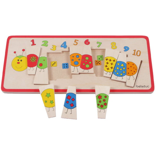 Beleduc Matching Puzzle Caterpillar - toybox.ae