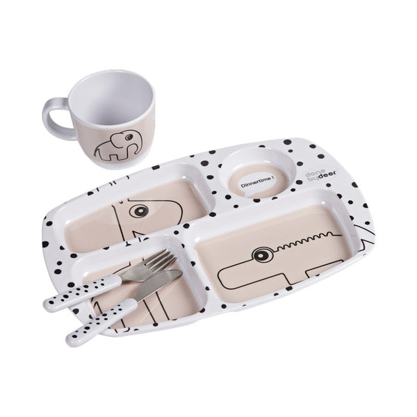 Toddler dinner set, Happy dots, Powder