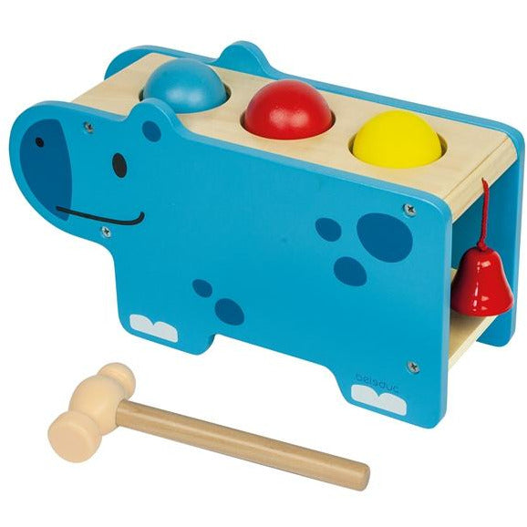 Beleduc Little Hippo Tap and Pound Bench - toybox.ae